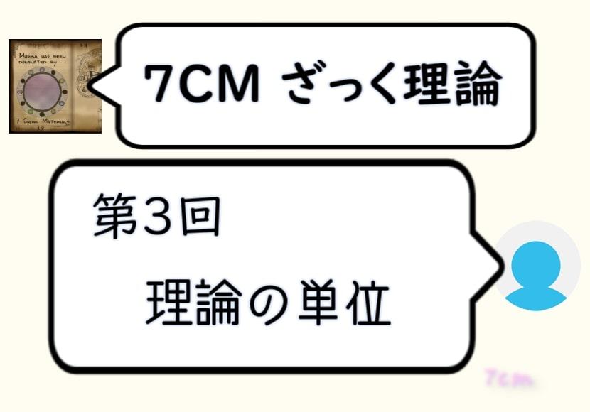 7CMざっく理論