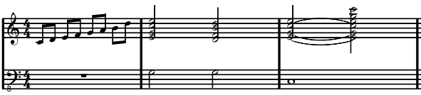 figure. [G]+[cg]+(e) bundle Low to G7 C